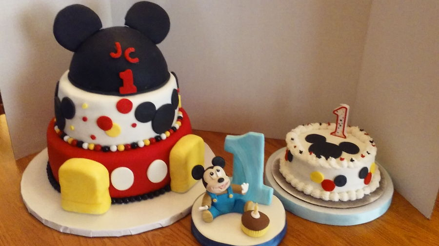 Jc's Mickey Mouse 1St Birthday Party on Cake Central