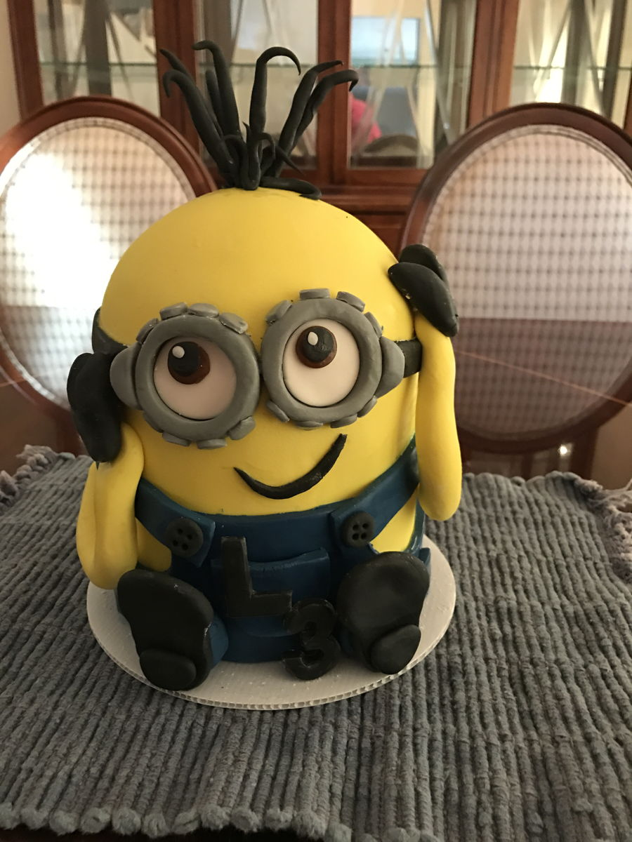 Kevin Minion For 3Rd Birthday - CakeCentral.com