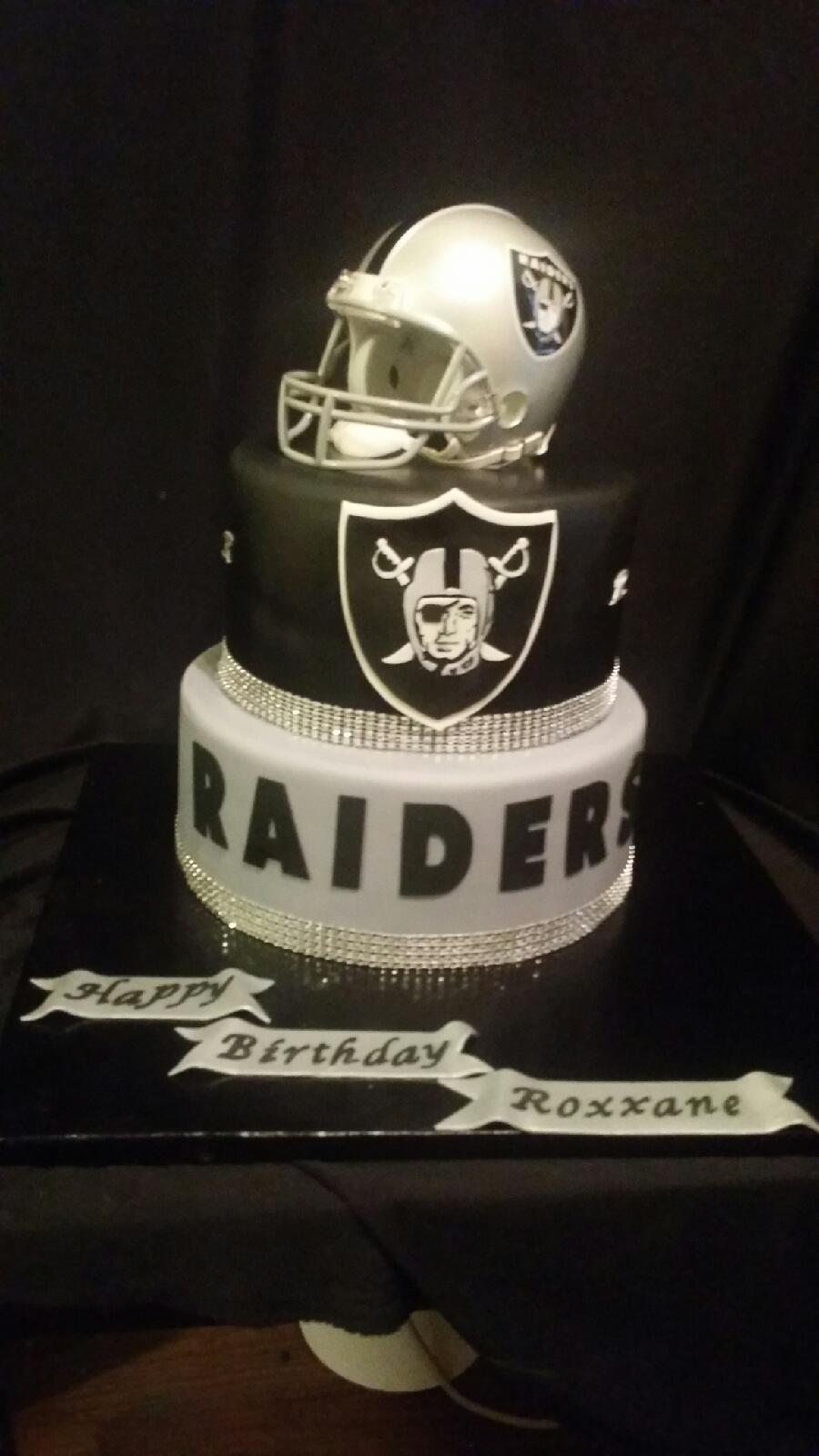 raiders bling cake