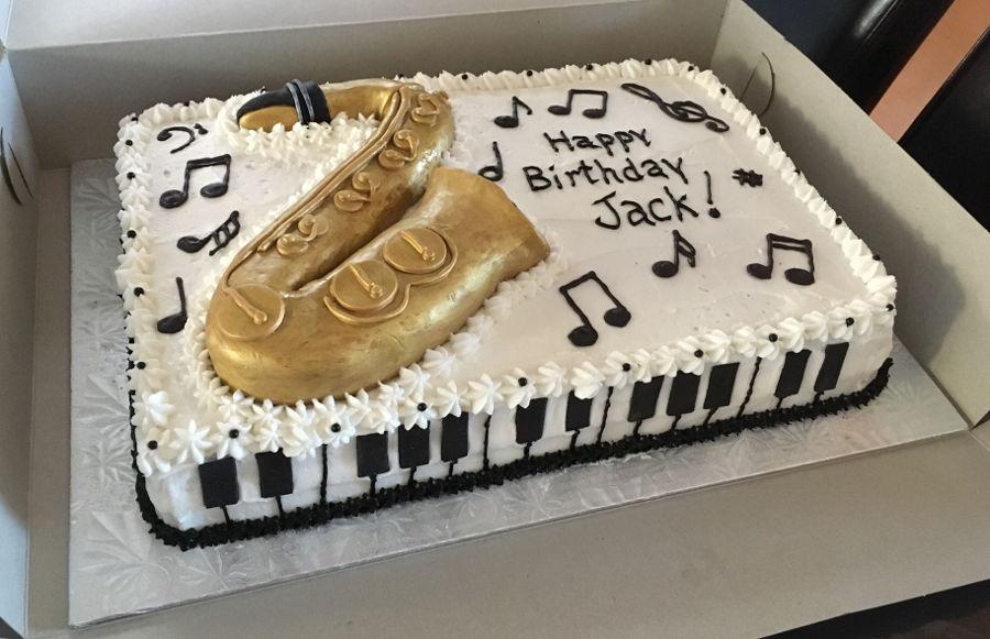 Saxophone Birthday Cake
