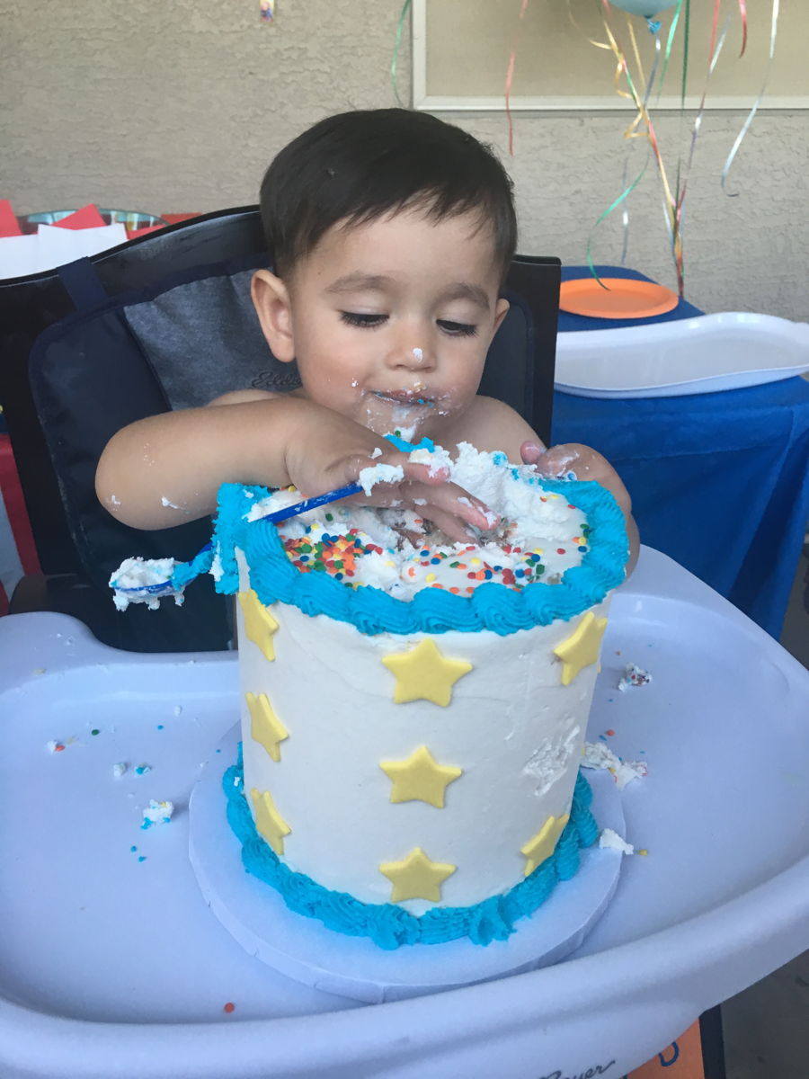 Smash Cake For My Son s 1St Birthday - CakeCentral.com