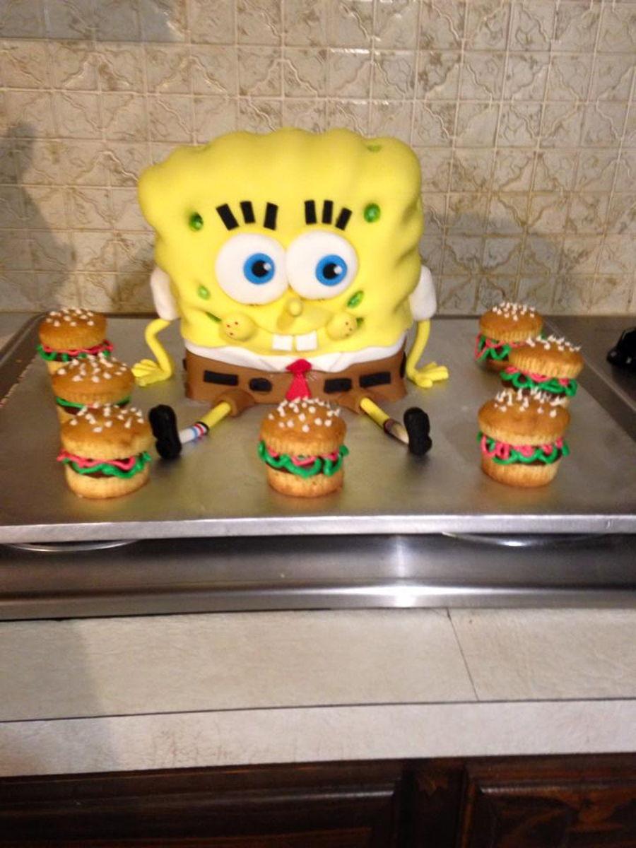 how to make krabby patty cupcakes