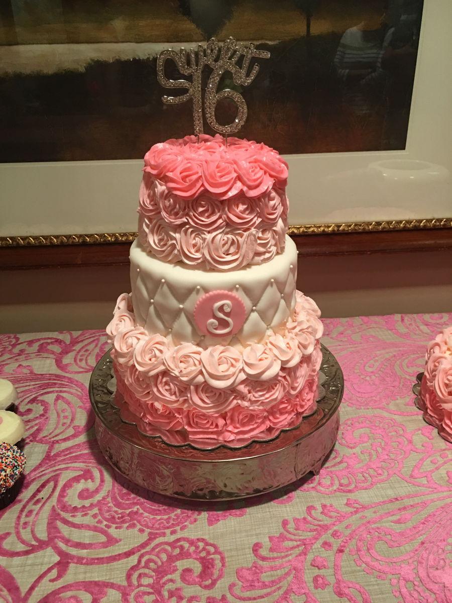 Three Tier Birthday Buttercream Cake