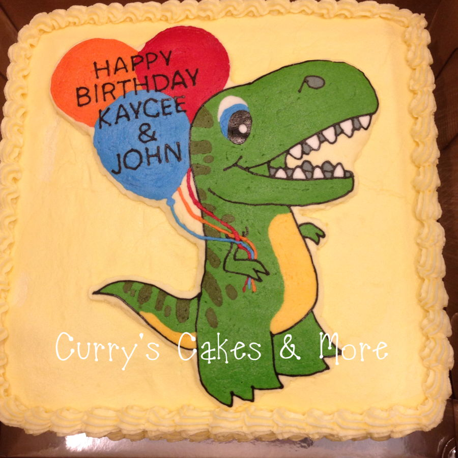 T Rex Birthday Cake Buttercream Icing Cakecentral