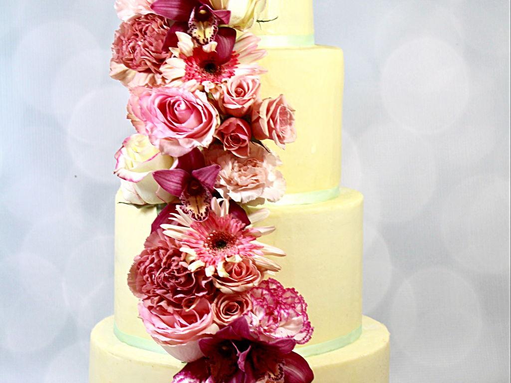 Buttercream Wedding Cake - CakeCentral.com