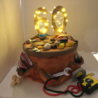 Adsc-Electricians Tool Belt Cake Chocolate Mud Cake with meringue Mocha buttercream and fudge filling. TFL!