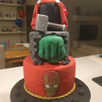 Avengers Cake   My Son's 6th Birthday cake