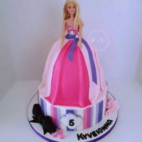 Barbie Birthday Cake 10''+6''barbie doll