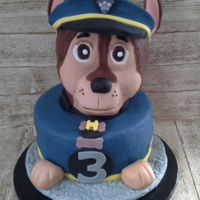 Chase From Paw Patrol Made for my grandsons 3rd birthday