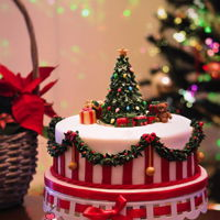 Christmas Cake Our Christmas Cake for 2016. Rich fruit cake infused in brandy.I made a tutorial of the tree topper and also shot a video of the cake while...