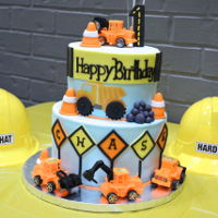 Construction Cake   First birthday party