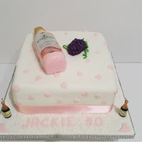 Echo Falls Wine Cake For A Huddersfield Customer.   Echo Falls wine cake for a Huddersfield customer.