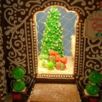 "Gingerbread House: Christmas Bakery 2016 This gingerbread house Christmas Bakery stands 24"" tall and comes complete with a working fireplace! If you would like to see a video..."
