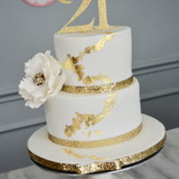 Gold Leaf Cake She's turning 21