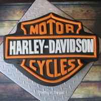 Harley-Davidson Logo   Harley-Davidson logo - handcut letters