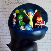 Inside Out All cake! All edible! Sculpted cake with chocolate figures!!!