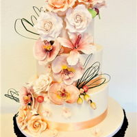 Just Right This cake with lots of (sugar) flowers was fun to make