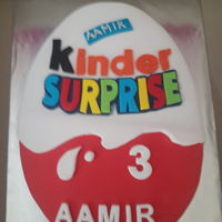 Kinder Surprise I made this cake for a 3 years old boy who is a kinder surprise lover.