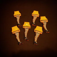 "Leg Lamp Cookies   Cookies inspired by the movie ""a Christmas story"" and ralphies dad's leg lamp! Royal icing iced."