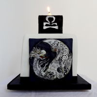 Libra Yin And Yang This is a gluten free hand painted chocolate cake made for my son's birthday in October. He sports a dragon tattoo on his arm so I...