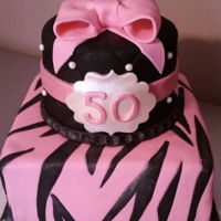 50 Bday With Styl! pink, black, pearl, zebra, bow