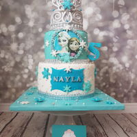 Frozen Cake Elegant cake white aqua blue and silver frozen cake