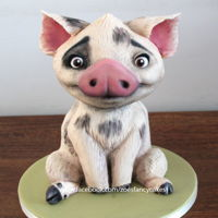 Moana 3D Cake Of Pua The Pig! How to make Pua the pig as a 3D cake from the new Moana movie :)