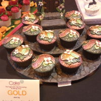 My Cupcakes At Cake International 2016 I was over the moon to get a gold award for my cupcakes!!