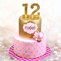 Pink And Gold Cake   Pink and gold cake