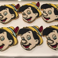 Pinocchio Cookies Sugar cookies with royal icing