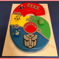 Rescue Bots Birthday WASC cake, buttercream, and MMF