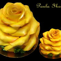 Rose Cake 3D Yellow Rose cake