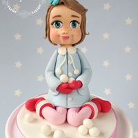Snow Girl Cake Topper Practising faces, have a long way to go!
