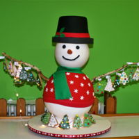 Snowman Cake I made this cake for my son's class. The snowman's hat is chocolate mud cake. His head is a hollow styrofoam ball which I...