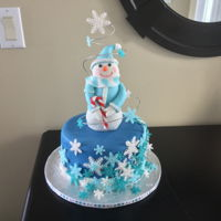 Snowman In A Wind Swirl!! I saw this cake on the Internet and really really wanted to make it!! Such a cute design!