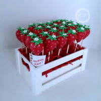 Cute Strawberry Cake Pops Coconut cake