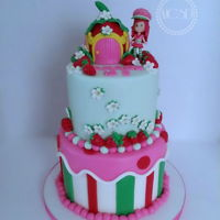 Strawberry Shortcake Cake 6''+8'' coconut cake