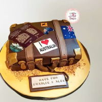 Suitcase   Suitcase cake for friends heading off travelling to Australia