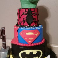 Super Hero Cake I'm not crazy about doing character cakes but I have to say I had a blast doing this one! All modeling chocolate BCI