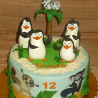 The Penguins Of Madagascar Cake for a boy who loves these penguins