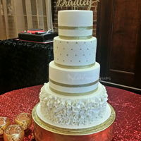 Wedding Cake 6''+8''+10''+12''almond sour cream cakevanilla cakechocolate cake