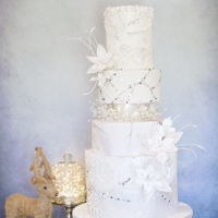 White Christmas Wedding My submission to Cake Central Magazine's request for a cake to this theme xx