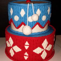 Winter Sweater / Knit Cake   Testing out knitted textures on dummy cakes.