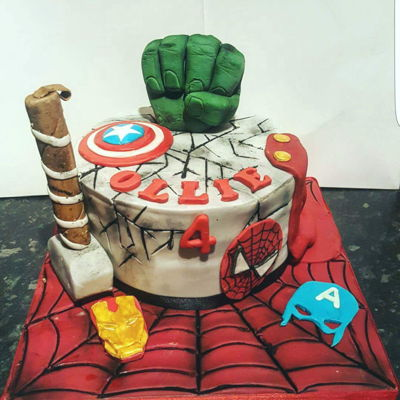 Avengers Cake   Avengers super hero cake for my nephew