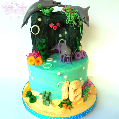 Dolphin Cove Cake