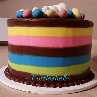 Easter Stripes on Cake Central