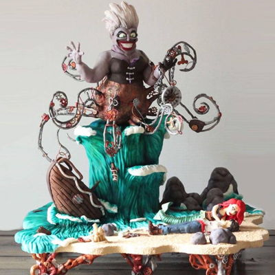 Steampunk Little Mermaid Cake   this was my take on steampunk for the icing smiles cake competition