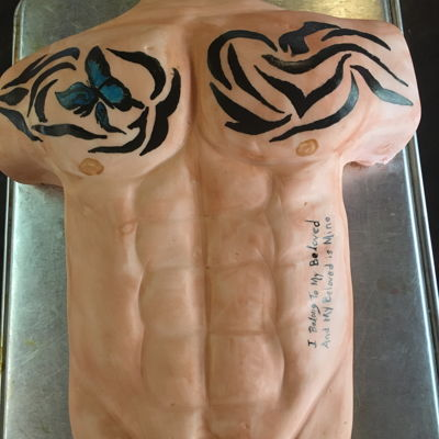 Travis Maddox Cake   Cake of a character named Travis Maddox from a book series by Jamie McGuire.