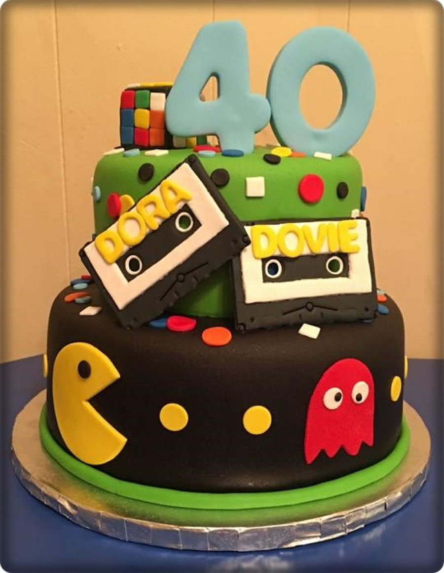 Groovy 80S Themed 40Th Birthday Cakecentral Com Birthday Cards Printable Riciscafe Filternl