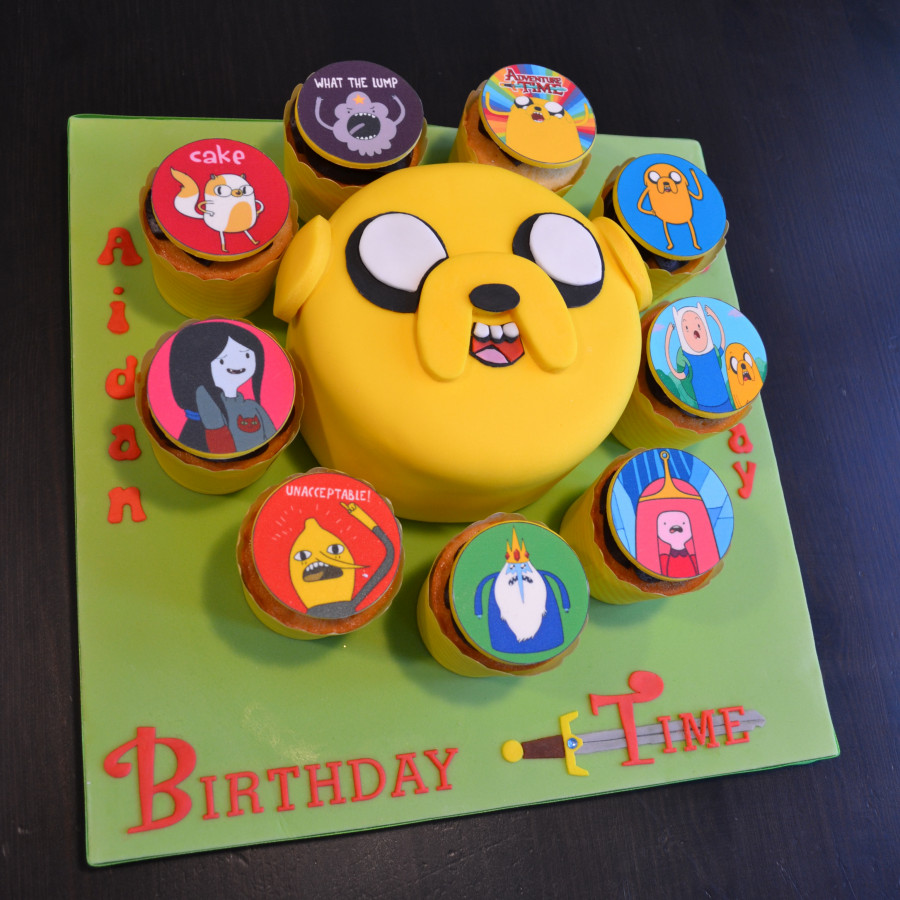 Magnificent Adventure Time Jake Birthday Cake And Cupcakes Cakecentral Com Funny Birthday Cards Online Fluifree Goldxyz